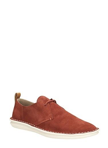 Clarks %100 Deri Bağcıklı Ayakkabı Kiremit